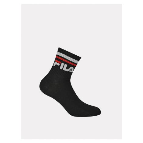 Sada troch párov čierných členkových ponožiek FILA