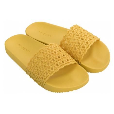 Zaxy žlté šľapky Snap Mesh Slide Fem Yellow