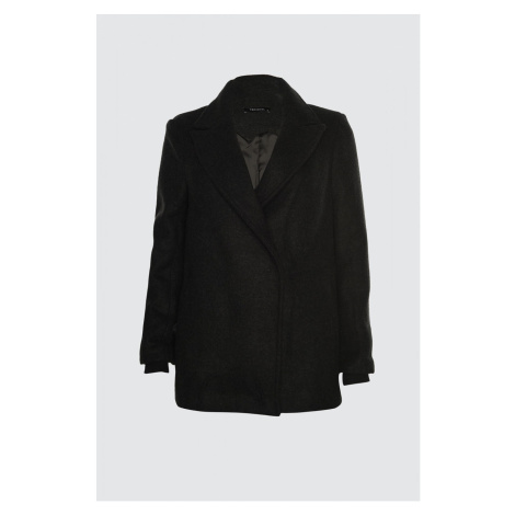 Trendyol Anthracite Ribana Detailed Stamp Coat