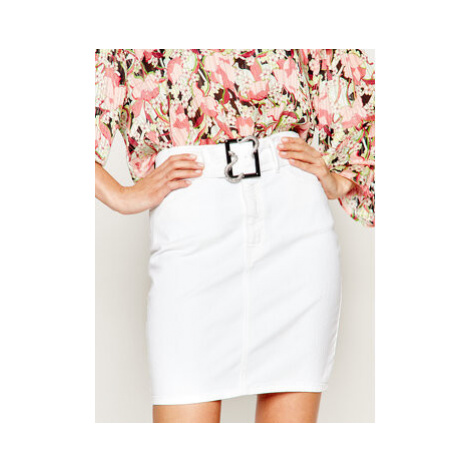 Just Cavalli Džínsová sukňa S02MA0303 Biela Regular Fit