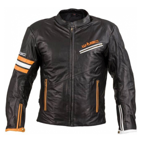 Kožená moto bunda W-TEC Brenerro Farba Black-Orange-White