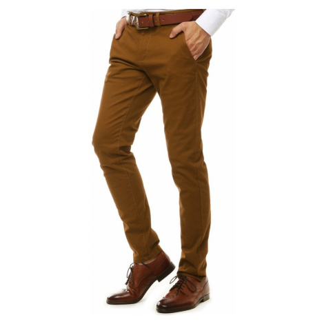 Brown men's chino trousers UX2598 DStreet