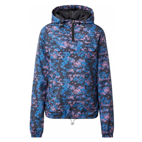 Urban Classics Prechodná bunda  fialová / modrá / čierna
