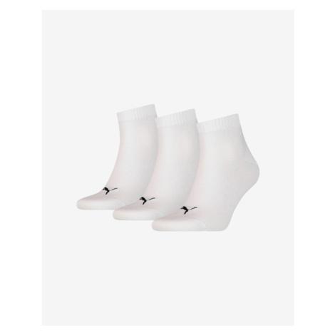 Puma Ponožky 3 páry Biela