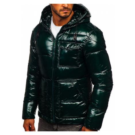 Zelená pánska športová prešívaná zimná bunda Bolf 973