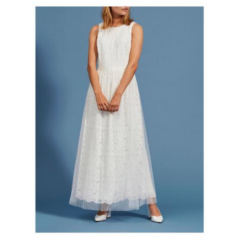 Vila biele maxi šaty Carmela