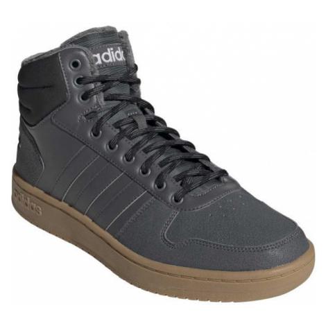 adidas HOOPS 2.0 MID šedá - Pánska voľnočasová obuv