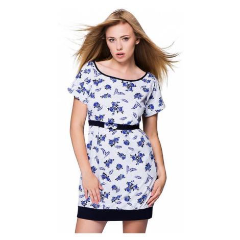 Nočná košeľa Rosalie modré ruže Sensis
