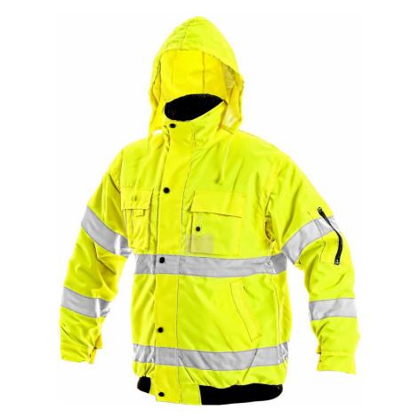 Canis Zimná reflexná bunda s odopínateľnými rukávmi LEEDS