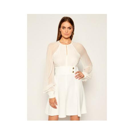 Pinko Koktejlové šaty Romeo AI 20-21 BLK0 1G150H Y6DR Biela Regular Fit