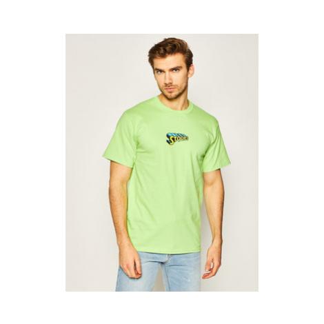 HUF Tričko Stoops Man TS01015 Zelená Regular Fit