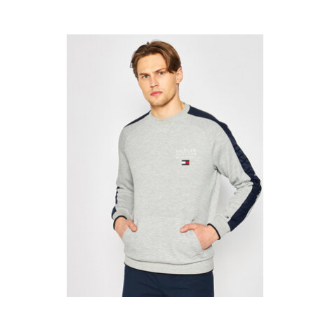 TOMMY HILFIGER Mikina Flex Nylon Paneled MW0MW13049 Sivá Regular Fit