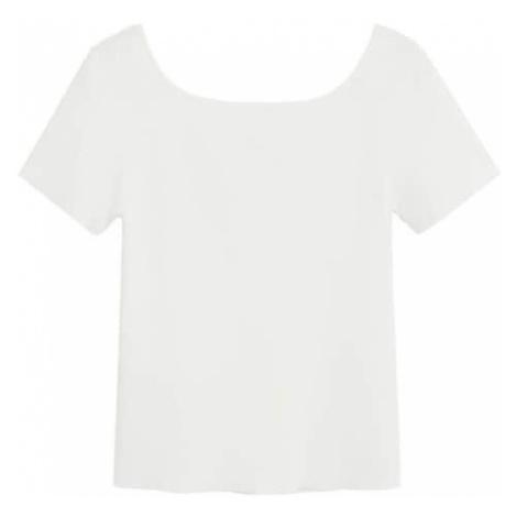 MANGO Tričko 'Bausch'  biela