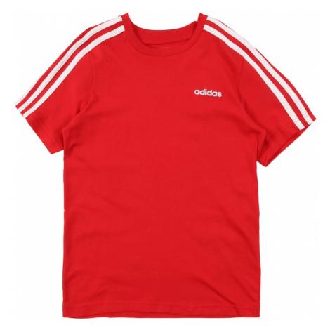 ADIDAS PERFORMANCE Funkčné tričko 'Essential'  červená / biela