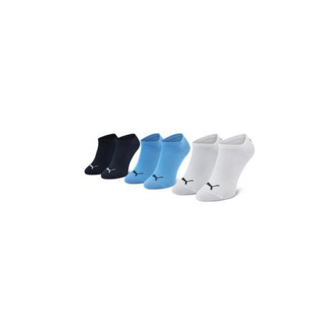 Puma Súprava 3 párov členkových dámskych ponožiek 907374 19 Modrá