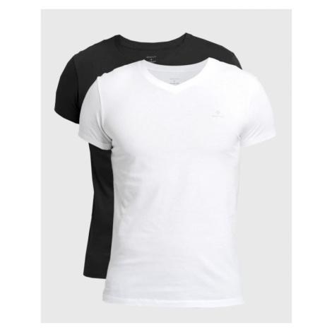 2PACK men's t-shirt Gant black / white (901002118-111)