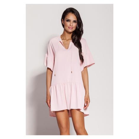 Svetloružové šaty Lila Dursi