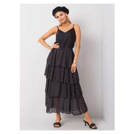 OH BELLA Black skirt with polka dots