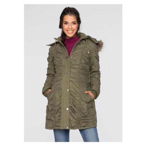 Materská bunda s kapucňou, nastaviteľná šírka
