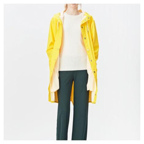 Žltý vodeodolný kabát Long Jacket RAINS