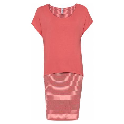 Džersejové šaty s pásikovanou sukňou bonprix