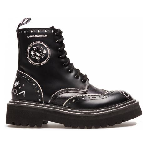 Členková Obuv Karl Lagerfeld Patrol Ii Brogue Lace Boot