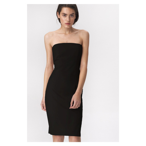 Čierne šaty Nife S145