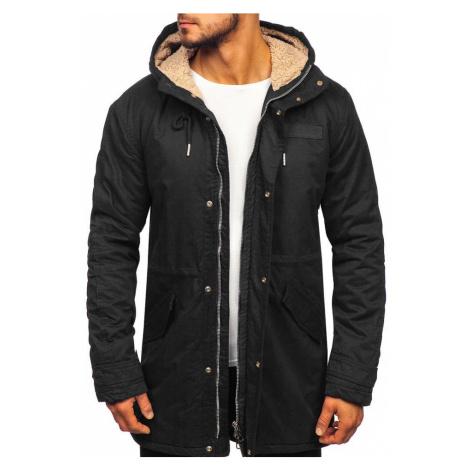 Čierna pánska zimná bunda parka Bolf EX838 EXTREME