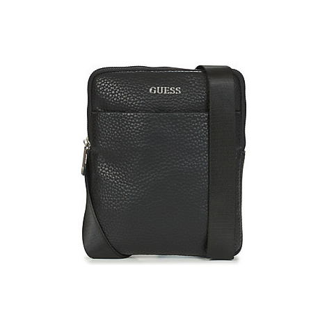 Guess DAN PU MINI FLAT CROSSBODY Čierna