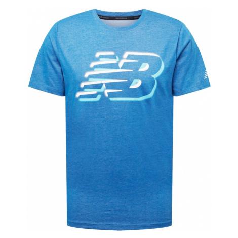 new balance Funkčné tričko  modrá / biela / svetlomodrá