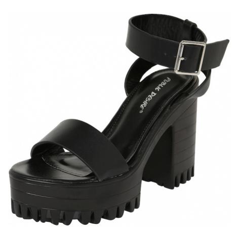 Public Desire Remienkové sandále 'AVENUE'  čierna