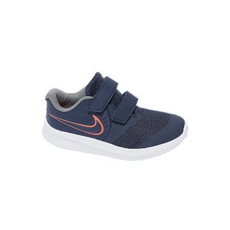 Tmavomodré detské tenisky na suchý zips Nike Star Runner 2
