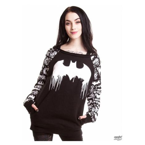mikina bez kapucňa NNM Batman Graffiti Čierna
