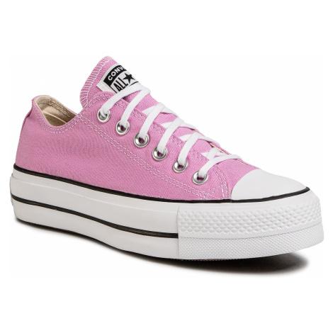 Tramky CONVERSE - Ctas Lift Ox 566756C Peony Pink/White/Black