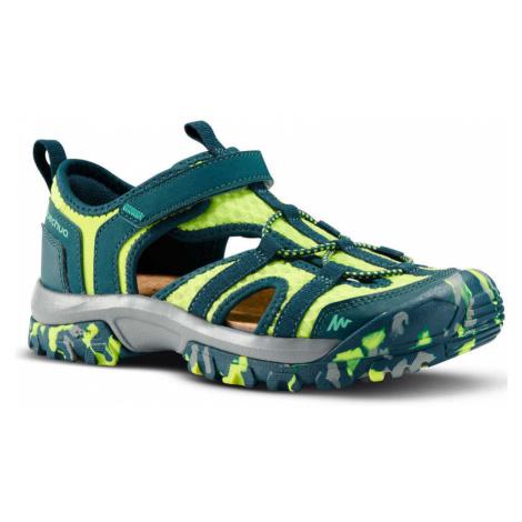 QUECHUA Detské Sandále Mh150 Zelené