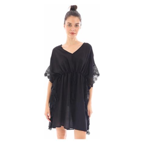Plážové šaty Angela čierne Doca