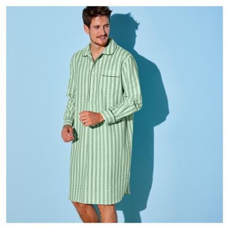 Blancheporte Nočná košeľa, bavlnený popelín zelená