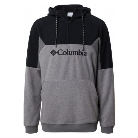 COLUMBIA Športový sveter 'Lodge II'  sivá melírovaná / čierna