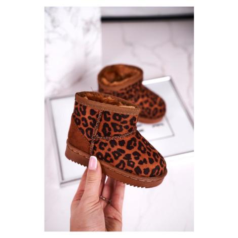 Children's Warm Snow Boots Leopard Gooby