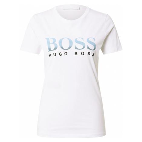 BOSS Casual Tričko  čierna / svetlomodrá / modrosivá / šedobiela
