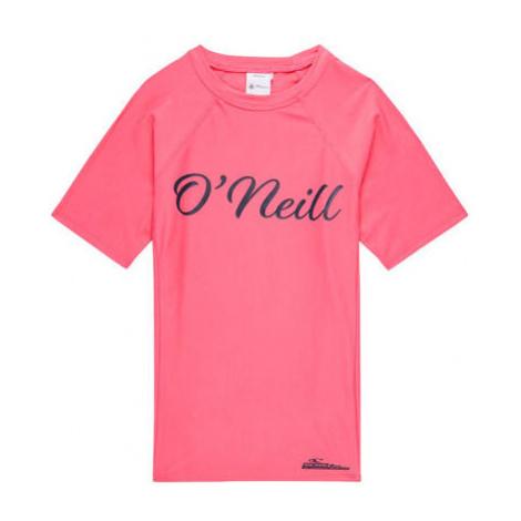 O'Neill PG LOGO S/SLV SKINS ružová - Dievčenské tričko