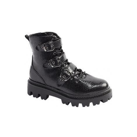 Čierna šnurovacia obuv so zipsom Vero Moda
