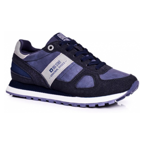 Women's Sport Shoes Sneakers Big Star Navy Blue GG274676