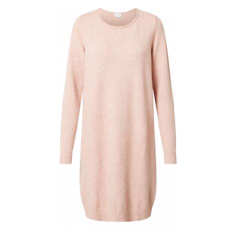 VILA Pletené šaty  pastelovo ružová