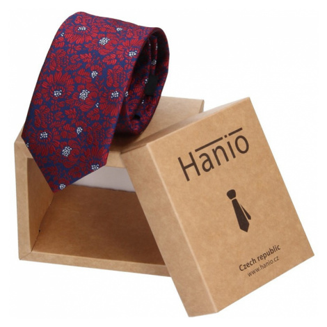 Pánska kravata Hanio Liam - modro - červená