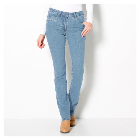 Blancheporte Rovné džínsy, vyššia postava zapratá modrá