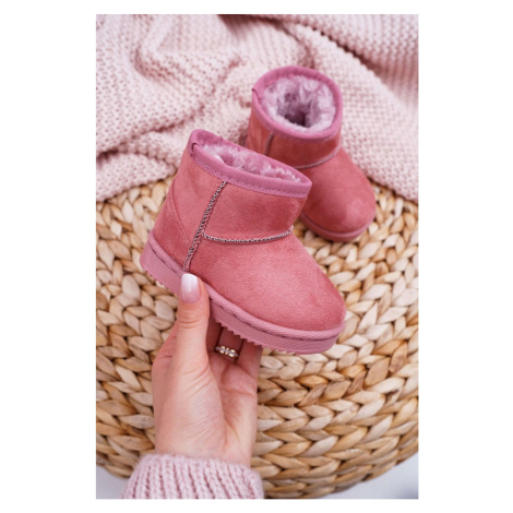 Children's Insulated Snow Boots Pink Gooby
