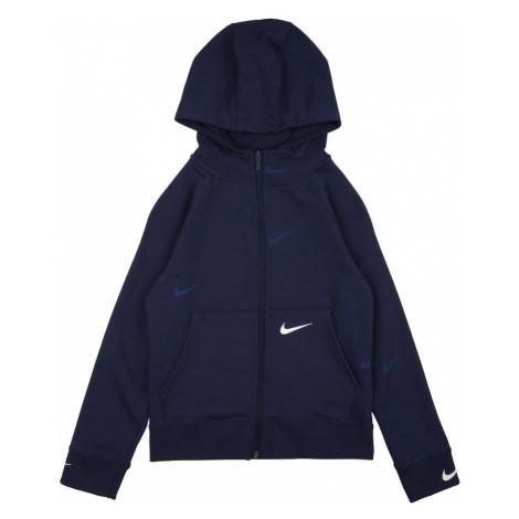 Nike Sportswear Tepláková bunda  tmavomodrá / biela