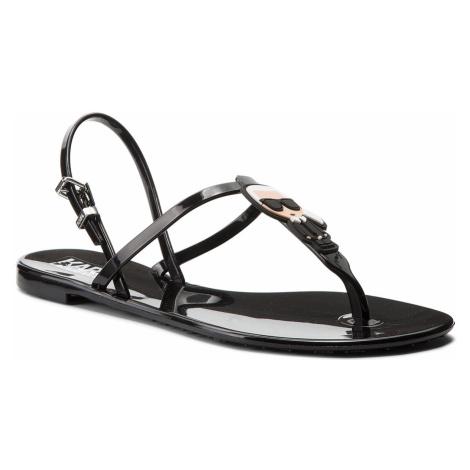 Sandále KARL LAGERFELD - KL80002 Black Rubber