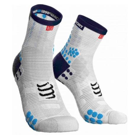 Compressport RACE V3.0 RUN HI modrá - Bežecké ponožky